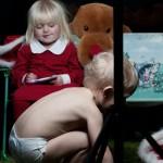 Children Christmas Photo shoot. Julfoto av barnen.