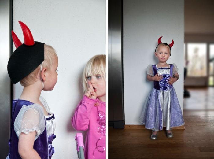 kids dressing up