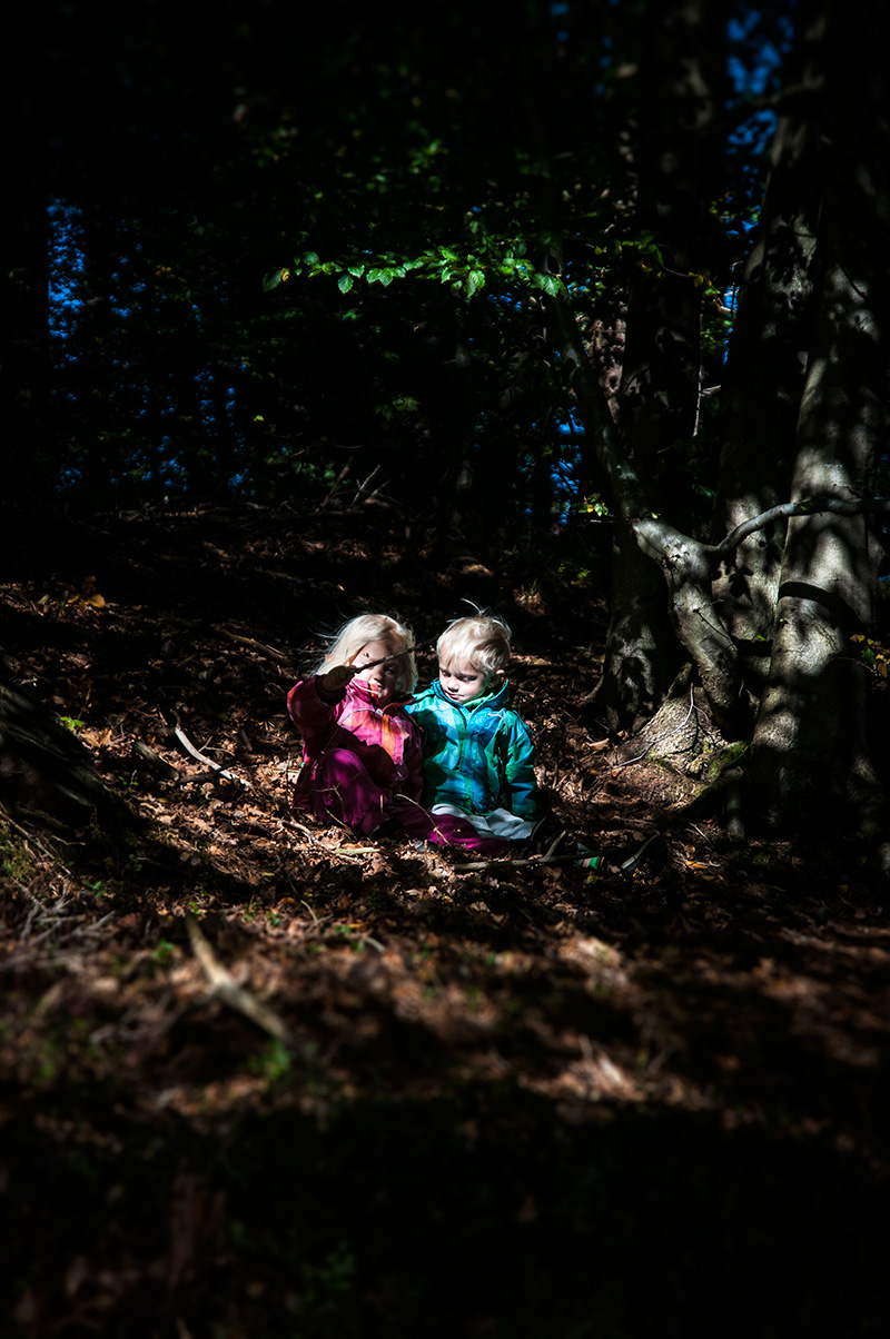 Kids photography in Biskopstorp nature reserve